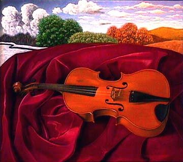 Scott Kahn painting Violin