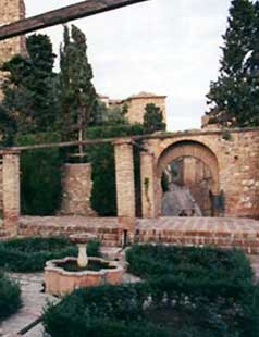 Garden in the Alcazaba de Malaga