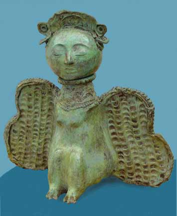 Annemarie Slipper bronze deity House Guardian