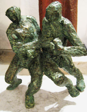 Aurelio Macchi sculpture Futbol Players
