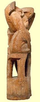 Aurelio Macchi Wooden Sculpture