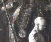Bill  Murphy charcoal drawing detail