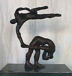 Carol Bruns bronze dancing figure sculpture