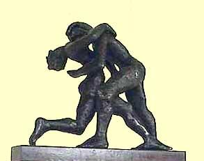 Carol Bruns bronze sculpture Tango