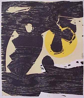 Charles Hewitt woodblock print Eden II