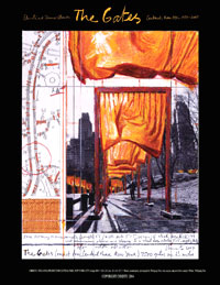 Christo and Jeanne-Claude poster gates