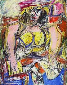 Willem de Kooning abstract expressionist painting Woman IV