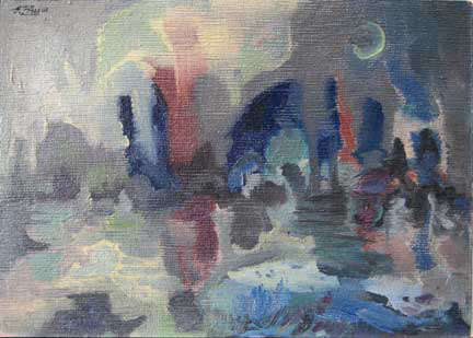 Eolo Pons painting Nocturne