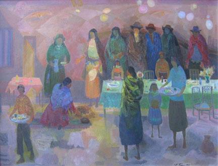 Eolo Pons painting La Flechada