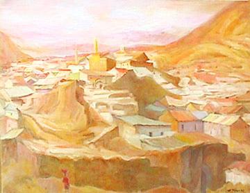Eolo Pons landscape painting Potosi