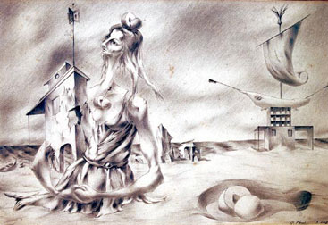 Eolo Pons surrealist drawing España Tell