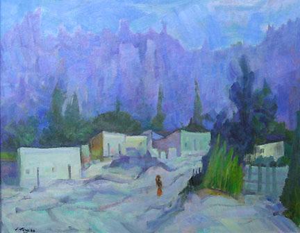 Eolo Pons oil painting Calle de Tilcara