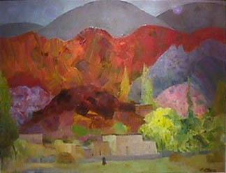 Eolo Pons painting Cerros Rojos