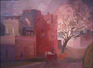Eolo Pons painting Calle Nueva Pompeya