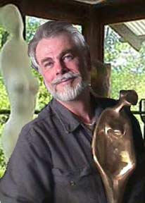 sculptor Edward Walsh in his studio