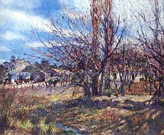 Fernando Fader painting Fin de Invierno