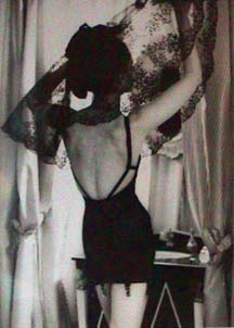Frances Pellegrini fashion black corset photo