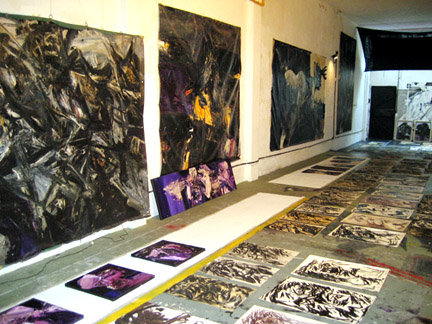 View of Guillermo Cuello's studio