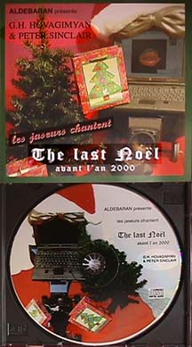 Hovagimyan and Sinclair compact disk of The Last Noel