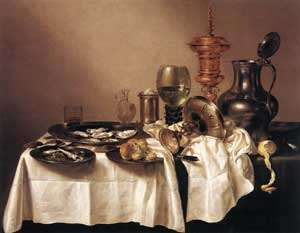 Willem Claesz Heda still life with gilt goblet