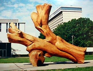Harry Gordon heroic wooden sculpture