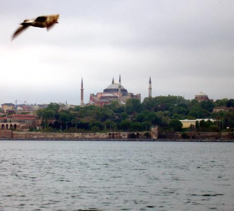 Hagia Sohia from the Bosphorus