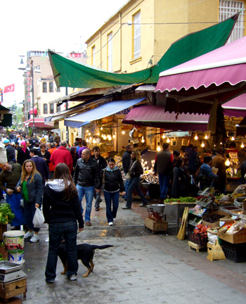 Food market in Kadikoy on the Asian side of Istanbul
