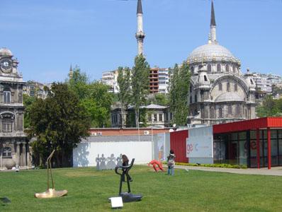 Sculpture garden at Istanbul Modern