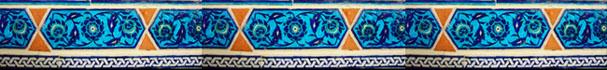 Ceramic tile detail Topkapi Palace Istanbul