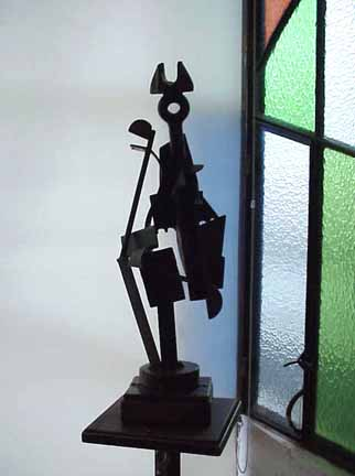 Javier Astorga small steel sculpture El Rey