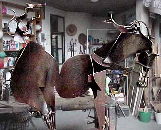 Javier Astorga  steel sculptural model for Horse of the Wind