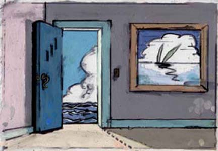 John Clem Clarke digital print Door to the Sea