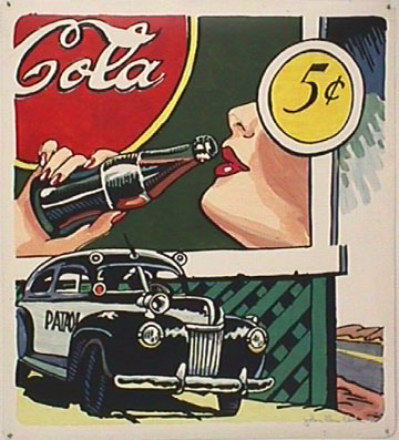 John Clem Clarke pop art Cola Billboard