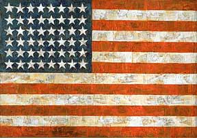 Jasper Johns encaustic painting Flag