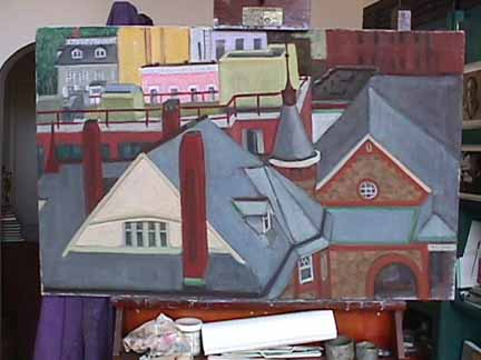 Painting of View from new studio