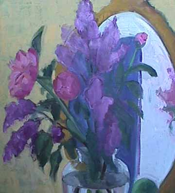 Kate Wattson floral still life painting Romantic Peonies