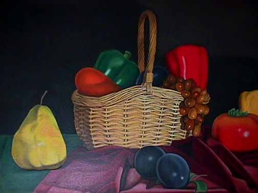 Detail of Laura Shechter Still Life with Basket
