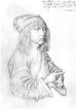 Albrecht Durer silverpoint portrait