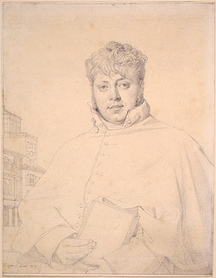 Ingres graphite drawing