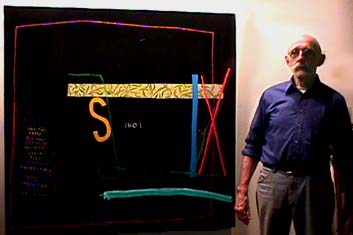 Michael Eastman in his studio with Prime Numbers