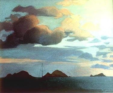 Margaret Speer painting Caribbean Dawn Sky