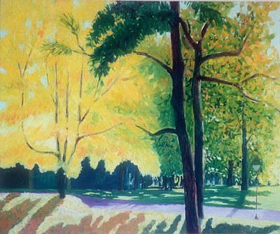 Margaret Speer Arkansas painting Neighborhood Trees