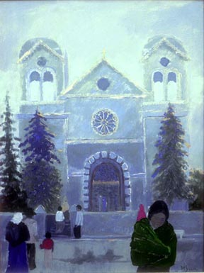 Margaret Speer painting Santa Fe Cathedral