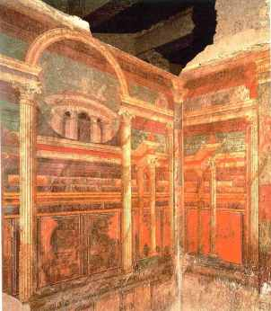 Architectural painting from Villa of the Mysteries