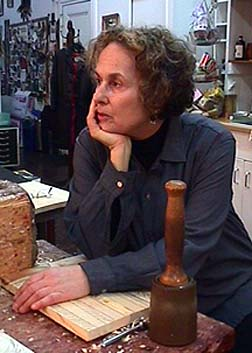 Nancy Azara in her studio