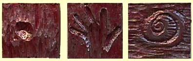 Nancy Azara wood bas-relief carvings