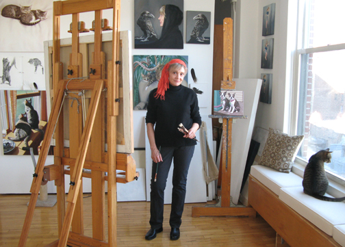Patricia Hansen, in her  SoHo NYC Studio
