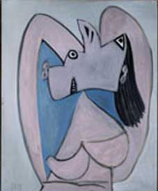 Picasso painting Woman with arms Crossed