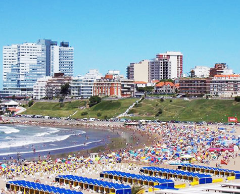 Beach Scene in Mar del Plata