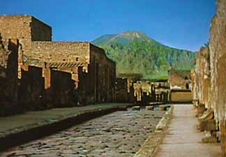Vesuvius and Pompeii Street